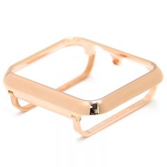 Metal bumper cover case for Apple watch rose