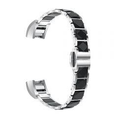 Metal Bracelets Watch Strap Wristband Bands For Fitbit Alta black