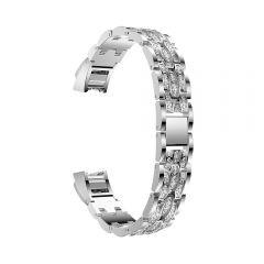 Metal Adjustable diamond Strap Bracelet for Fitbit Alta platinum