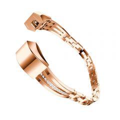 Adjustable white diamond Strap Bracelet for Fitbit Alta rose