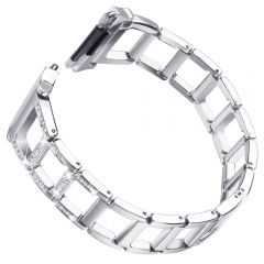Hollow Stainless Steel bezel Band for Fitbit ionic platinum