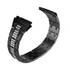 Shinny Stainless Steel bezel Band for Fitbit ionic black