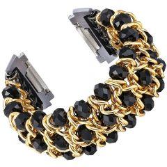 Fashion bracelet wristband for Fitbit ionic watch black
