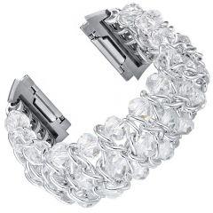 Fashion bracelet wristband for Fitbit ionic watch platinum