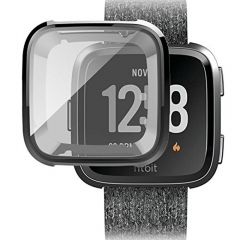 Soft protective cover case for Fitbit versa watch  black