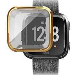 Soft protective cover case for Fitbit versa watch gold