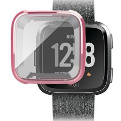 Soft protective cover case for Fitbit versa watch pink