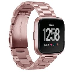 Comfortable touching stainless steel band for Fitbit versa rose