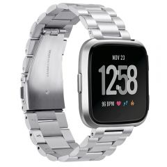 Comfortable touching stainless steel band for Fitbit versa silver