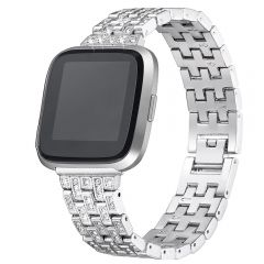 Full diamond cover watch band for Fitbit versa platinum
