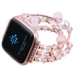 Hot Sale Agate Beads Watchband for Fitbit versa rose