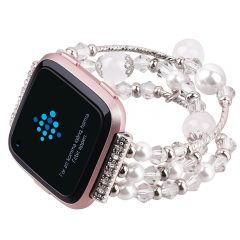 Hot Sale Agate Beads Watchband for Fitbit versa gray