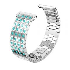 Metal Adjustable green diamond Strap Bracelet for Fitbit versa platinum