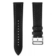 Black Leather Replacement wristband Strap for Fitbit versa watch