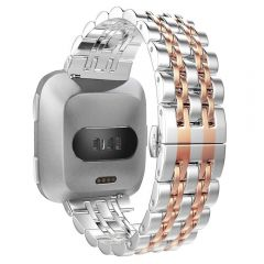 Stainless Steel Wristband for Fitbit versa rose gold