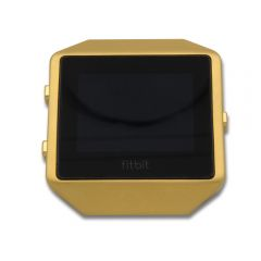 Stainless Steel Watch Frame Cover Case For Fitbit Blaze gold