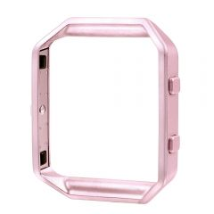 Fashion Metal bumper cover for fitbit blaze watch pink