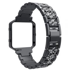 Luxury and elegance diamond band for Fitbit blaze black