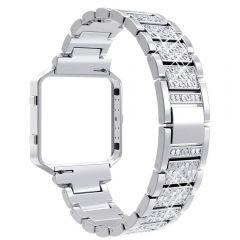 Luxury and elegance diamond band for Fitbit blaze platinum
