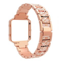Luxury and elegance diamond band for Fitbit blaze rose