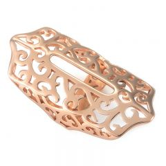 Simple and classic bling charm metal part for Fitbit Flex 2 rose
