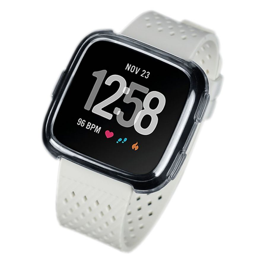 newest ec6b0 4430a Soft material protective cover for Fitbit versa watch light brown