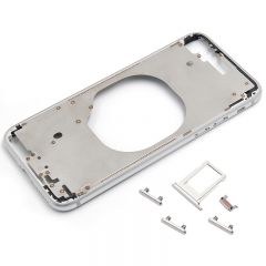 Metal color plated middle frame for iphone 8 4.7 inch Platinum