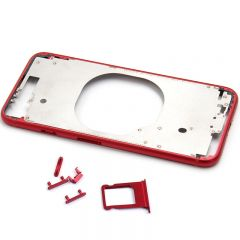 Metal color plated middle frame for iphone 8 4.7 inch Hot Red