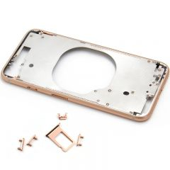 Metal color plated middle frame for iphone 8  4.7 inch Rose
