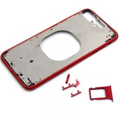 "Metal color plated middle frame for iphone 8 plus 5.5"" Red"