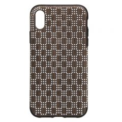 New style design protective phone case for iphone X brown