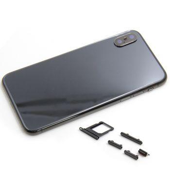 Black color metal middle frame case for iPhone X