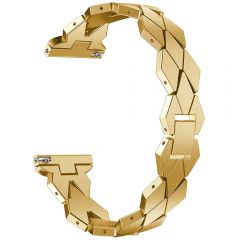 special shape watch metal band for fitbit versa watch gold