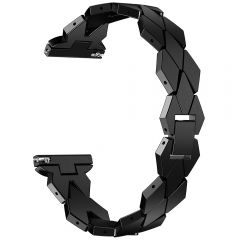 special shape watch metal band for fitbit versa watch black