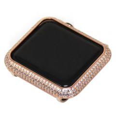 38MM/42MM bright Zircon bezel Case for Apple watch 1/2/3 rose