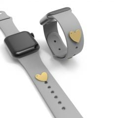 Heart Watch Band Charms Studs Watch Straps Decorative Accessory Buddies Compatible For Apple Watch