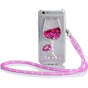 iPhone 6 3D Cup Glitter Quicksand Moving Slim TPU case