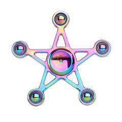 Rainbow Five-pointed Star Design Metal Fidget Spinning Toy