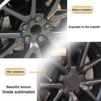 For Tesla Model 3 Tire Wheel Hub Cap Kit Car AccessoriesTire Standard Wheel Center Cap