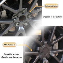 For Tesla Model 3 Tire Wheel Hub Cap Kit Car AccessoriesTire Standard Wheel Center Cap 18 Inch