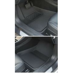 Floor Mats - Non-Slip & Anti-Dust Waterproof Interior PVC Carpet Protector Compatible with Tesla Model 3