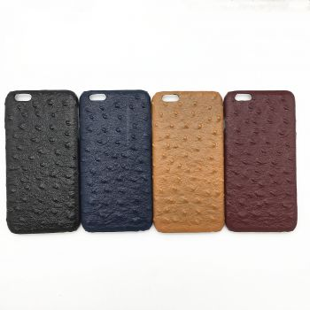 Genuine ostrich leather case for iPhone 6