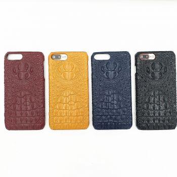 Luxury fashion iPhone 7plus crocodile leather phone case
