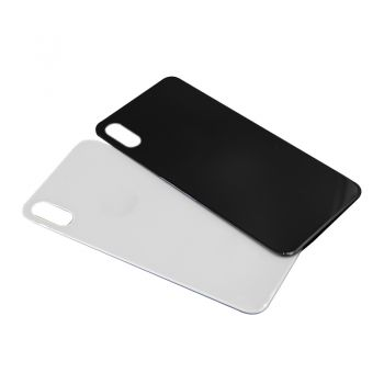 iPhone X Black / White Tempered Glass Back Housing Rear Cove
