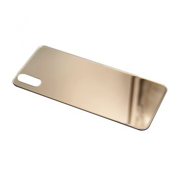 iPhone X 24K Real Gold Plating Glass Shell Shiny Gold Glass