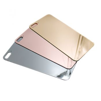 24K Gold Plating Glass Back Cover Glossy for iPhone 8 Plus