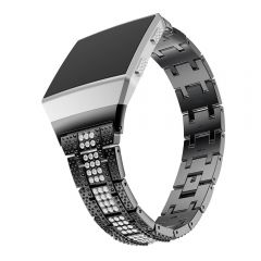 Fitbit ionic black middle diamond encrusted metal watch band