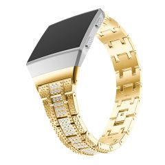Fitbit ionic crystal diamond metal band gold plating