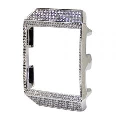 Fitbit ionic diamond silver watch case