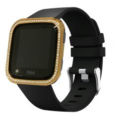 Glittering diamond gold plated  case cover for Fitbit Versa